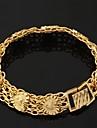 старинные сердца u7® женские 18k коренастый желтого золота гальваническим браслет цепи браслет для женщин или мужчин 19.5cm