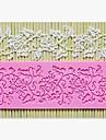 Кружевная силиконовая форма для торта, L16.7cm * W6.2cm * H0.4cm (цвет случайный)