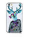 David\'s Deer Pattern Black Frame Back Case for iPhone 4/4S