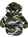 Dog / Cat Hoodie Green Winter Camouflage