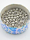 toonykelly®round посеребренные пластиковые DIY шарики 45pc / мешок