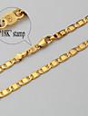 chapado en oro de 18 quilates u7® grueso verdadero vinculo regalo de la joyeria collar de cadena para hombres mujeres 4mm 55cm