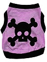 Cat / Dog Shirt / T-Shirt Purple Dog Clothes Spring/Fall Skulls / Hearts