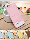Colorful 3D Soft Silicone Chocolate Ice Cream Case for iPhone 6/6S (Assorted Color)