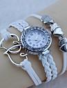 tem afinidade mútua diamante tecido pulseira de relógio (branco)