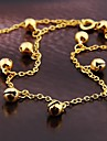 Korean Style Fashion Alloy Bell Anklet Gold (1Pc)