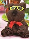cadeau d\'anniversaire fibre de forme ours serviette creatrice (couleur aleatoire)