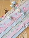 Materiales origami estrella de la suerte 45 pcs patrón flores (color al azar)
