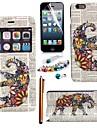 fantaisie elephant cuir PU avec fenetre d\'affichage de la fente de carte avec stylet, film protecteur et le bouchon de la poussiere pour