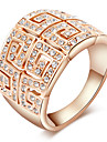 ROXI Luxury Rose Gold Plated Austrian Crystals Statement Ring(1 Pc)