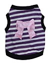 Cat / Dog Shirt / T-Shirt Pink / Purple Spring/Fall Stripe / Hearts