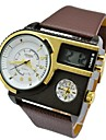 hommes de mode de sport impermeables de montre militaire cas les heures de cuir veritable en acier montres numeriques (couleurs assorties)