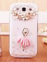 Pour Samsung Galaxy Coque Strass / Transparente / Motif Coque Coque Arriere Coque Dessin Anime 3D Polycarbonate SamsungS7 edge / S7 / S6