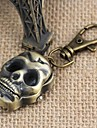 Unisex Vintage Skull-Shaped Upturned Keychain Watch (1Pc) Cool Watches Unique Watches