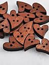 coracao recados em forma scraft costura botoes de madeira diy (10 pecas)