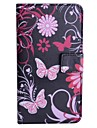Pink Butterfly Pattern PU Leather Case with Stand and Card Slot for HTC Desire 516