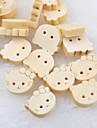 botones de madera diy gato cabeza scrapbook Scraft coser (10 piezas)