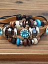 Z&X®  Punk Beads Rhinestone Leather Strand Bracelets
