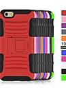 angibabe 2 в 1 трудно гибридной силиконовой телефон обратно случаях для Iphone 6 / 4.7-дюймовый 6s