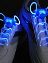 Long Bright Flash Slow Flash  Waterproof LED Shoelace Blue (1-Pair)