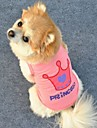 Cat / Dog Shirt / T-Shirt Pink Dog Clothes Summer Tiaras & Crowns / Letter & Number Cosplay