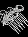 peigne cinq dents en forme de fleur effilées incrustation de strass (1pc)