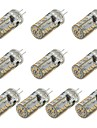 3W G4 LED лампы типа Корн 57 SMD 3014 260 lm Тёплый белый / Холодный белый Декоративная DC 12 V