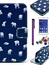 Elephant Carpet Pattern PU Leather Case with Screen Protector,Stylus and Dust Plug for Samsung Galaxy Core 2 G355H/G3558