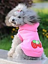 Cat / Dog Hoodie Pink Dog Clothes Summer Fruit Wedding / Cosplay