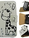 Cartoon Deer PU Leather Full Body Cover with Stand for Samsung Galaxy S3 Mini I8190N