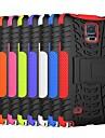 два-в-одном ослеплять цвет полосы конструкция ПК и силиконовый чехол с подставкой для Samsung Galaxy Примечание 4 (разных цветов)