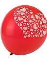 tamanho extra grande coracao grosso baloes redondos quebrados vermelhos - conjunto de 24