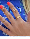 (5PC) European Diamond lian to Suit  Alloy Midi Rings(Gold,Silver)