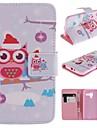Для Кейс для Motorola Кошелек / Бумажник для карт / со стендом / Флип Кейс для Чехол Кейс для Сова Твердый Искусственная кожа Motorola