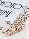 Poignets oreille Imitation de diamant Alliage Mode Forme de Fleur Argent Dore Bijoux Mariage Soiree Quotidien Decontracte Sports