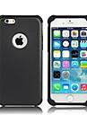 2-em-1 hibrido caso dificil PC a prova de choque com silicone dentro capa para o iPhone 6 (cores sortidas)