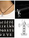 Черный Ожерелья с подвесками Кожа Для вечеринок / Повседневные Бижутерия