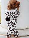 Dog Coat / Hoodie Brown Winter Leopard Leopard