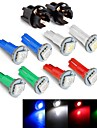Instrument Panel Dashboard Light Bulb DC12V  0.2W T5 LED 5050SMD  Blue Red Green White  + Socket 10PCS JHK784001