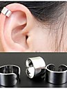 Hoop Earrings Ear Cuffs Alloy Black Silver Golden Jewelry Wedding Party Daily Casual