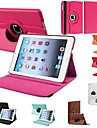 df® holdbar flip-open PU laer full body sak med 360 graders rotasjon staa for ipad mini (assorterte farger)