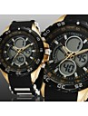 Men's Black Round Watch Dial Silicone Band Japan Movement Fashion Diving Sport Watch Wristwatch(Assorted Colors) Cool Watch Unique Watch