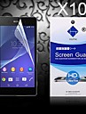 HD Screen Protector with Dust-Absorber for Sony Z2 (10 PCS)