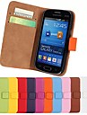 Genuine Leather Full Body Case with Stand and Card Slot for Samsung Galaxy Trend Life S7390 S7392