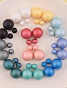Stud Earrings Pearl Resin 7 8 9 10 11 Jewelry Wedding Party Daily Casual Sports