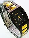 Men's Square Dial Alloy Band Quartz Fashion Watch (Assorted Colors) Cool Watch Unique Watch