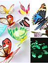 3d Emulational светящиеся бабочки ПВХ наклейки для стен художественные наклейки (случайные цвета, 12 шт комплект поставки)