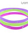 lureme®3 pièces amitié bracelet coloré sillicon
