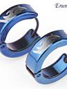 pendiente totem de titanio de acero de eruner®men (azul)