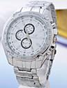 Hombre Reloj Cuarzo Reloj Militar Aleacion Banda